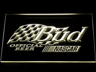 Budweiser NASCAR LED Neon Sign - Yellow - SafeSpecial