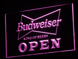 Budweiser Open LED Neon Sign - Purple - SafeSpecial