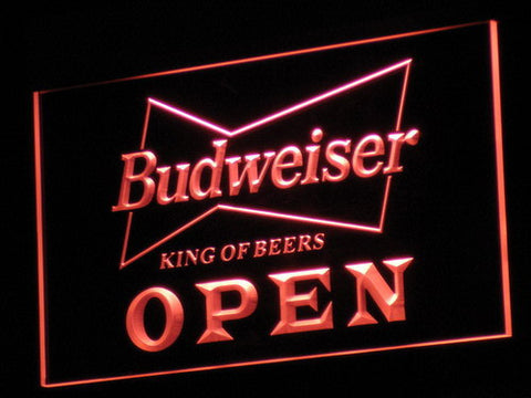 Budweiser Open LED Neon Sign - Red - SafeSpecial