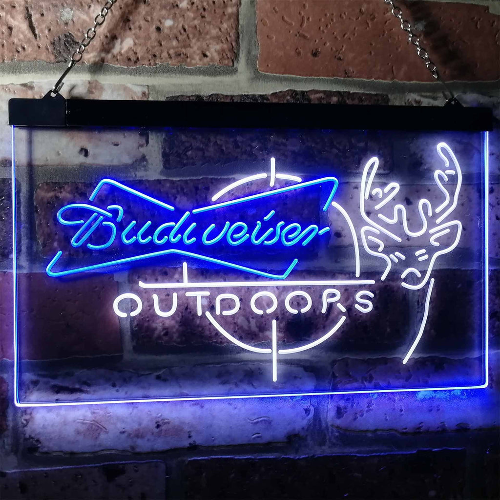 Budweiser Outdoors Neon-Like LED Sign - Dual Color