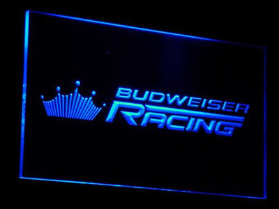 Budweiser Racing LED Neon Sign - Blue - SafeSpecial