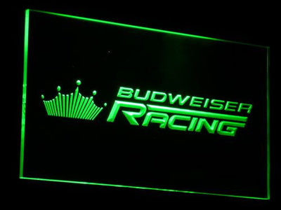 Budweiser Racing LED Neon Sign - Green - SafeSpecial