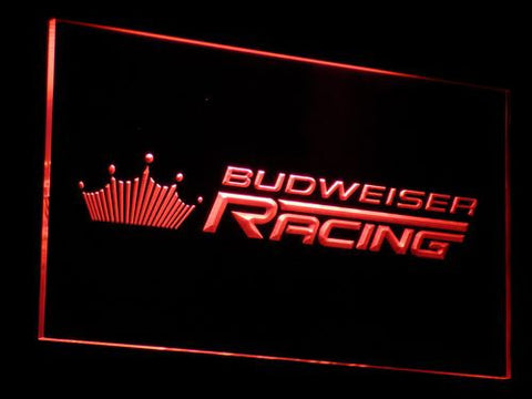 Image of Budweiser Racing LED Neon Sign - Red - SafeSpecial