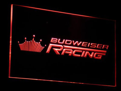 Budweiser Racing LED Neon Sign - Red - SafeSpecial