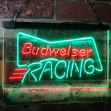 Budweiser Racing Neon-Like LED Sign - Dual Color - Green and Red - SafeSpecial