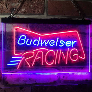 Budweiser Racing Neon-Like LED Sign - Dual Color - Red and Blue - SafeSpecial