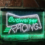 Budweiser Racing Neon-Like LED Sign - Dual Color - White and Green - SafeSpecial