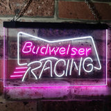 Budweiser Racing Neon-Like LED Sign - Dual Color - White and Purple - SafeSpecial