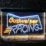 Budweiser Racing Neon-Like LED Sign - Dual Color - White and Yellow - SafeSpecial