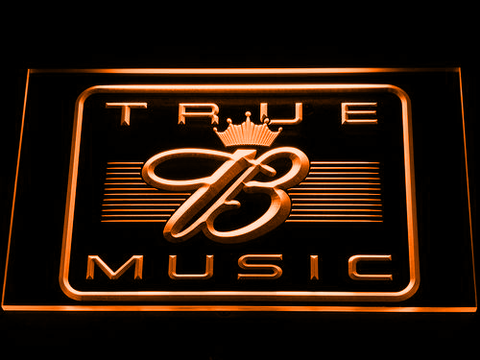 Budweiser True Music LED Neon Sign - Orange - SafeSpecial