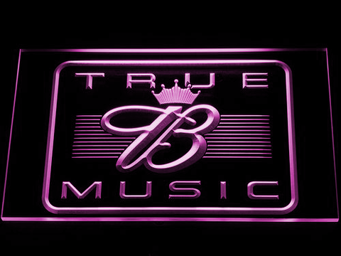 Budweiser True Music LED Neon Sign - Purple - SafeSpecial