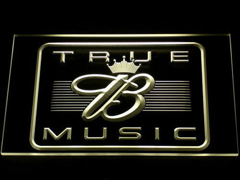 Budweiser True Music LED Neon Sign - Yellow - SafeSpecial
