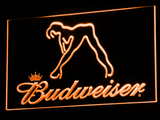 Budweiser Woman's Silhouette LED Neon Sign - Orange - SafeSpecial