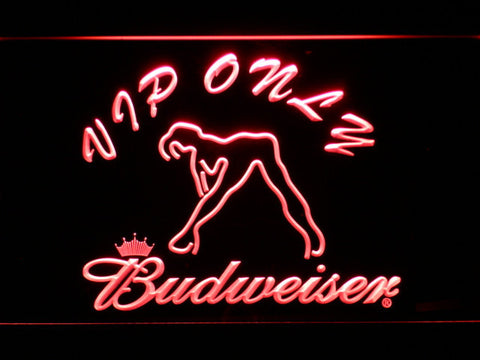 Image of Budweiser Woman's Silhouette VIP Only LED Neon Sign - Red - SafeSpecial