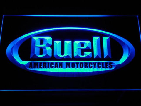 Buell LED Neon Sign - Blue - SafeSpecial