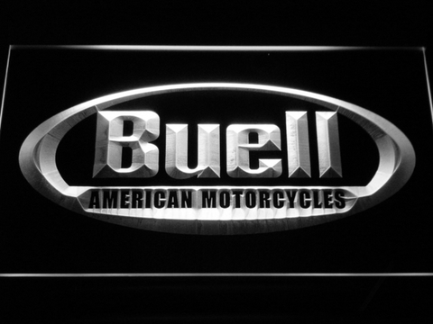 Buell LED Neon Sign - White - SafeSpecial