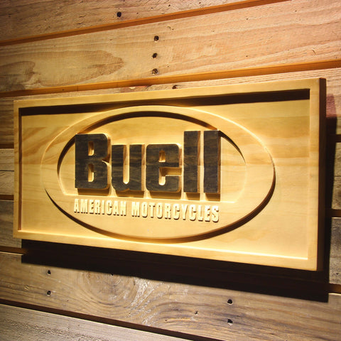 Buell Wooden Sign - - SafeSpecial