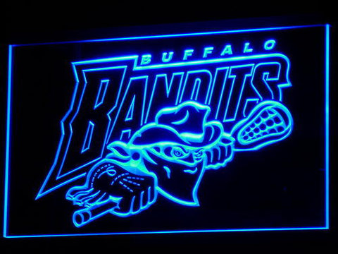 Image of Buffalo Bandits LED Neon Sign - Blue - SafeSpecial