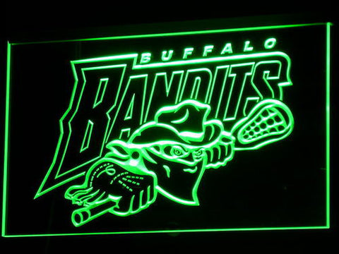Image of Buffalo Bandits LED Neon Sign - Green - SafeSpecial