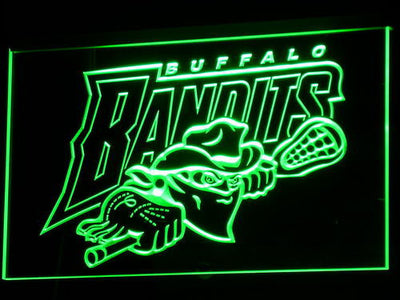 Buffalo Bandits LED Neon Sign - Green - SafeSpecial