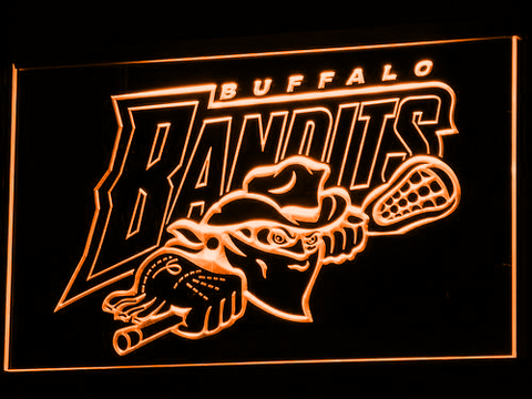 Image of Buffalo Bandits LED Neon Sign - Orange - SafeSpecial