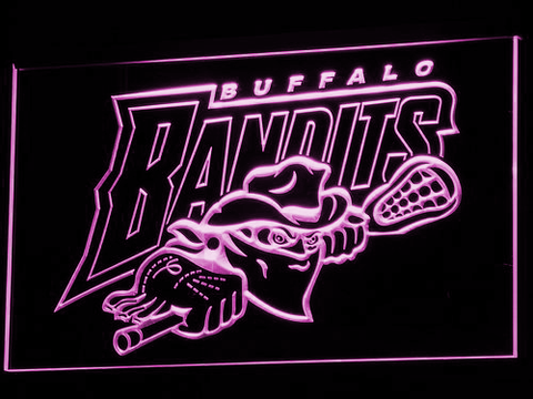 Image of Buffalo Bandits LED Neon Sign - Purple - SafeSpecial
