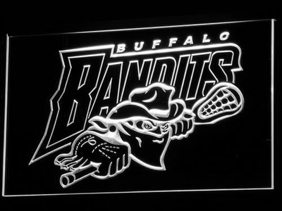 Buffalo Bandits LED Neon Sign - White - SafeSpecial
