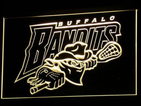 Image of Buffalo Bandits LED Neon Sign - Yellow - SafeSpecial