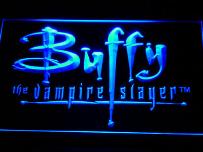 Buffy The Vampire Slayer LED Neon Sign - Blue - SafeSpecial