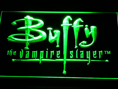 Buffy The Vampire Slayer LED Neon Sign - Green - SafeSpecial