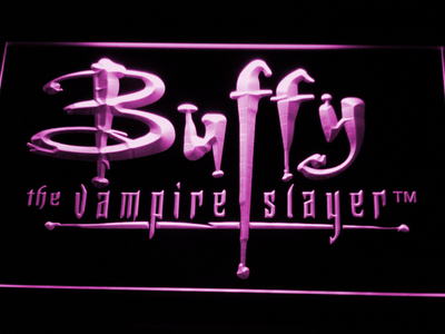 Buffy The Vampire Slayer LED Neon Sign - Purple - SafeSpecial