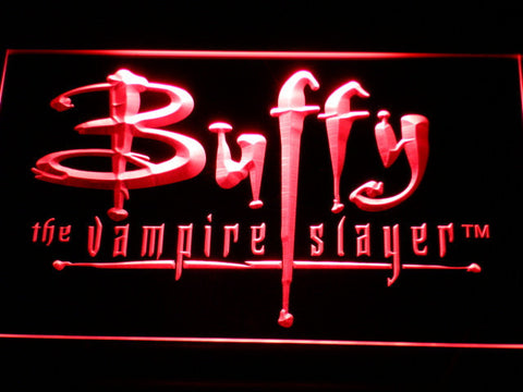 Image of Buffy The Vampire Slayer LED Neon Sign - Red - SafeSpecial