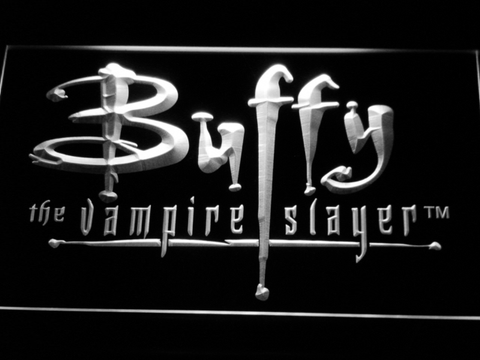 Image of Buffy The Vampire Slayer LED Neon Sign - White - SafeSpecial