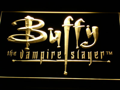 Buffy The Vampire Slayer LED Neon Sign - Yellow - SafeSpecial