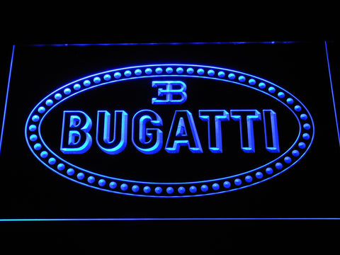 Image of Bugatti LED Neon Sign - Blue - SafeSpecial