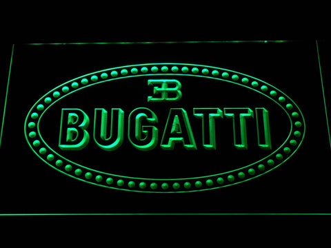 Image of Bugatti LED Neon Sign - Green - SafeSpecial