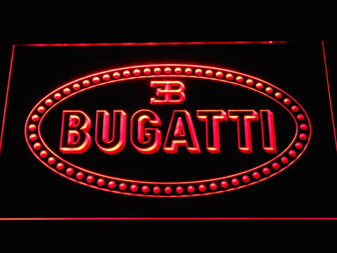 Image of Bugatti LED Neon Sign - Red - SafeSpecial