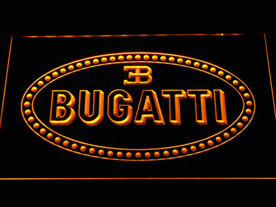 Bugatti LED Neon Sign - Yellow - SafeSpecial