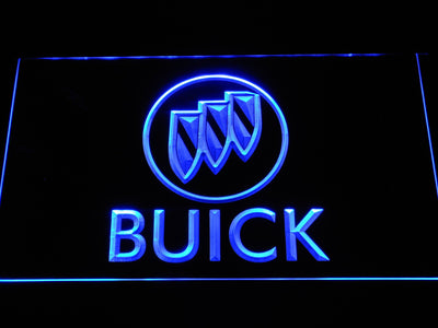 Buick LED Neon Sign - Blue - SafeSpecial