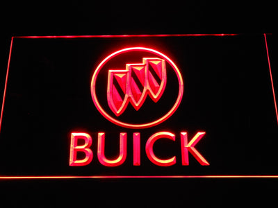 Buick LED Neon Sign - Red - SafeSpecial