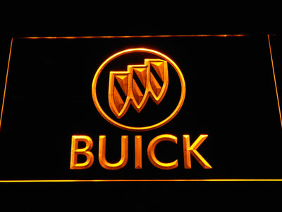 Buick LED Neon Sign - Yellow - SafeSpecial