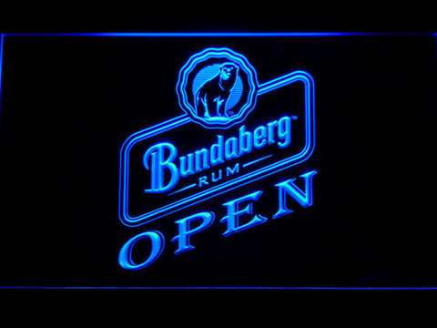 Bundaberg Open LED Neon Sign - Blue - SafeSpecial
