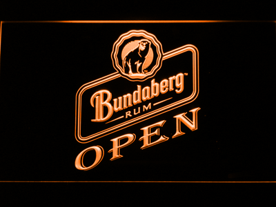 Bundaberg Open LED Neon Sign - Orange - SafeSpecial
