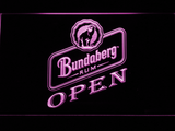 Bundaberg Open LED Neon Sign - Purple - SafeSpecial
