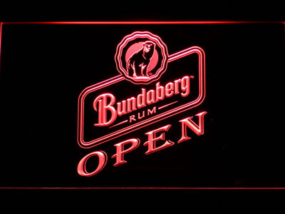 Bundaberg Open LED Neon Sign - Red - SafeSpecial