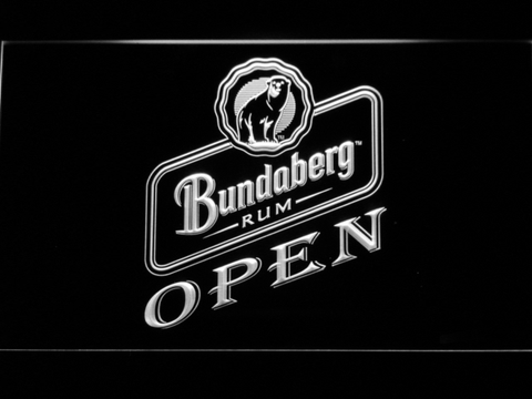 Bundaberg Open LED Neon Sign - White - SafeSpecial