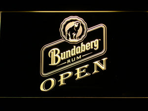 Bundaberg Open LED Neon Sign - Yellow - SafeSpecial