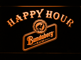 Bundaberg Rum Happy Hour LED Neon Sign - Orange - SafeSpecial