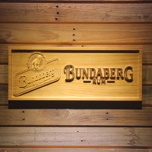 Bundaberg Rum Wooden Sign - Small - SafeSpecial