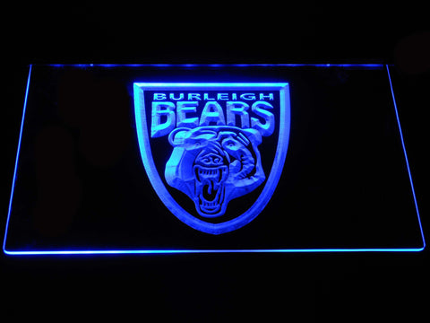Image of Burleigh Bears LED Neon Sign - Blue - SafeSpecial